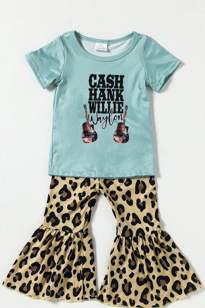 Cash Hank leopard bell pants set - orangeshine.com