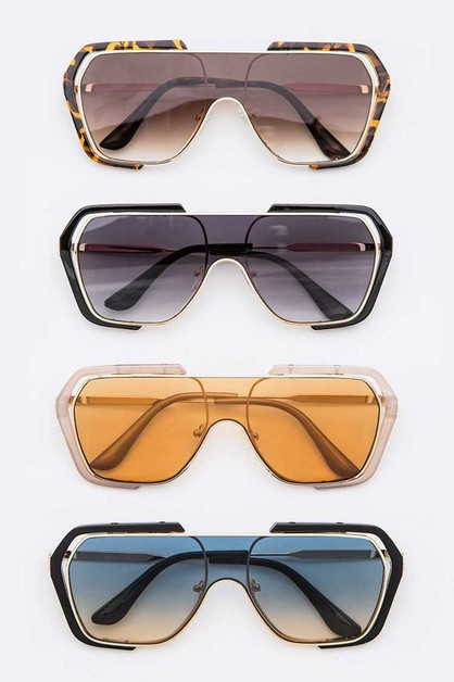 Shield Inspired Iconic Sunglasses Se - orangeshine.com