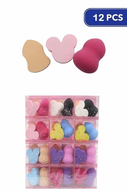 FASHION CUTE MAKEUP SPONGE 3 PCS  PR - orangeshine.com