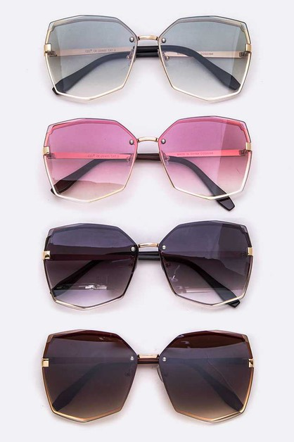 Oversize Edgy Iconic Sunglasses Set - orangeshine.com