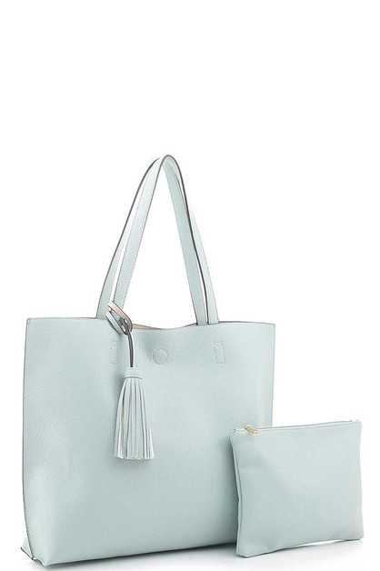 2IN1 TASSEL TOTE BAG WITH POUCH BAG - orangeshine.com