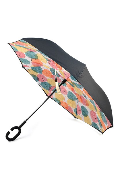 Multi Color Leaves Double Umbrella - orangeshine.com