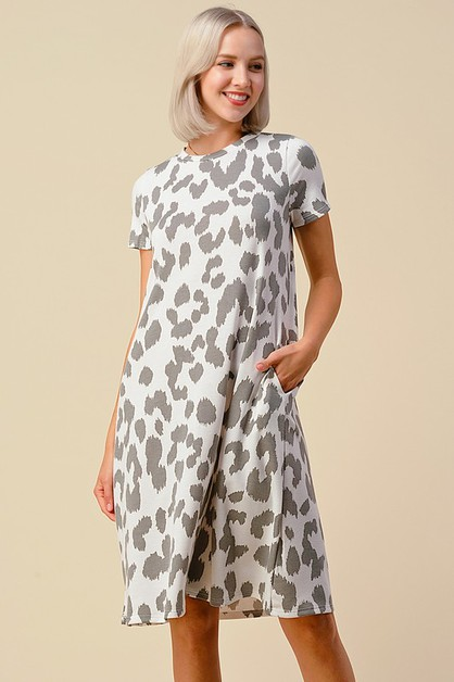 LEOPARD PRINT SWING DRESS - orangeshine.com