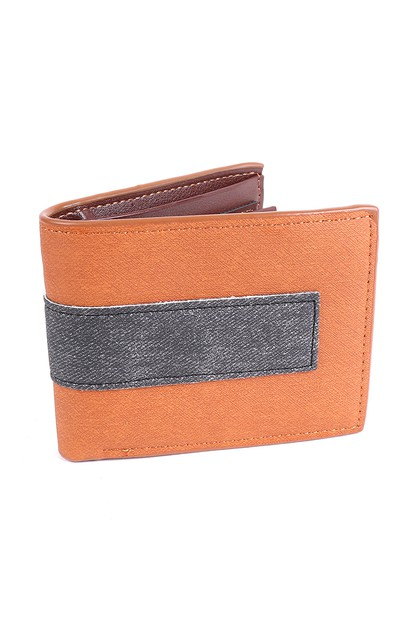 Mens Bi-fold Brown and Black Stripe - orangeshine.com