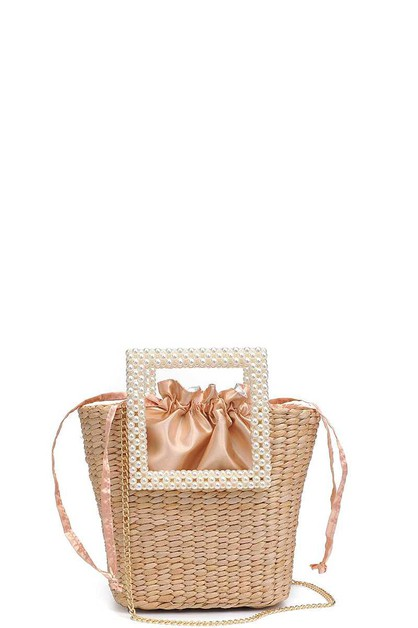 CHIC WOVEN STRAW WHITSUNDAY PEARL HA - orangeshine.com