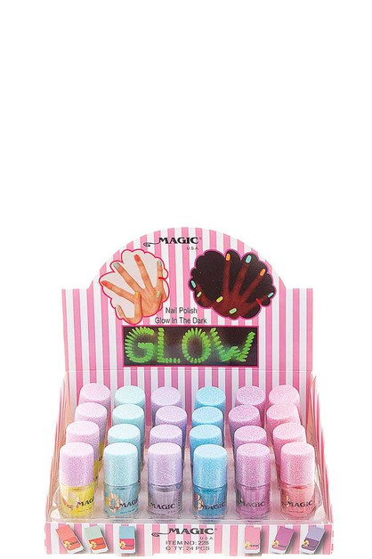 GLOW IN THE DARK NAIL POLISH 24 PCS - orangeshine.com