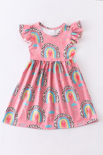 Rainbow leopard dress - orangeshine.com