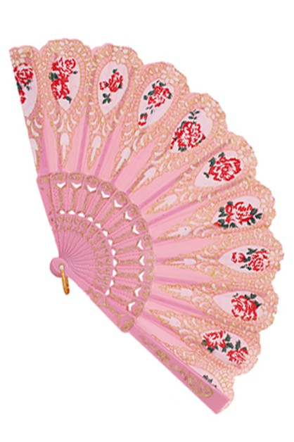 Flower Print Hand Fan - orangeshine.com