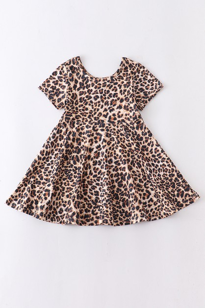 Leopard twirl dress - orangeshine.com