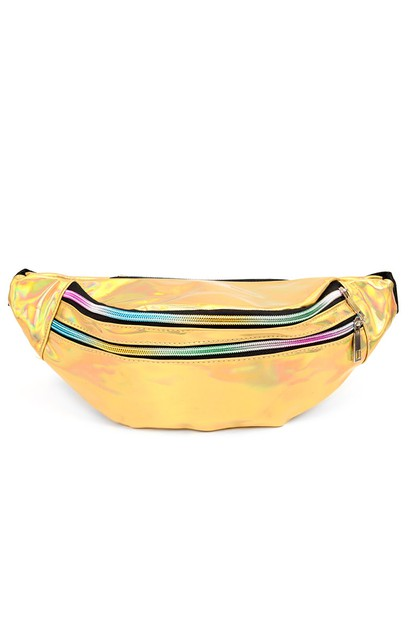 Gold Holographic Fanny Pack - orangeshine.com