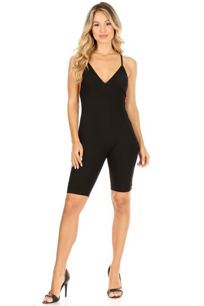 Halter Cross Back Sports Jumpsuit - orangeshine.com
