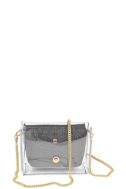 STYLISH STRAW CLEAR CLUTCH BAG - orangeshine.com