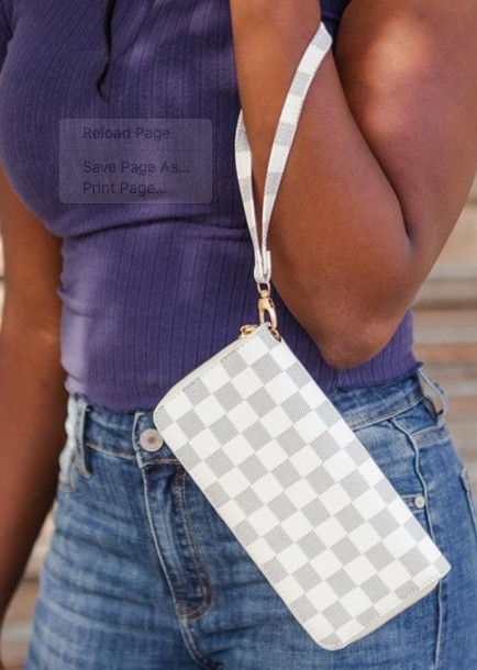 Checkered wallets and clutches - orangeshine.com