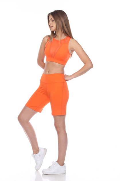 NYLON MESH SPORTS BRA - orangeshine.com