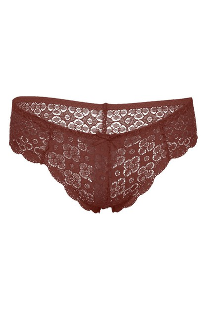 Plus Size Lace Thong Panty - orangeshine.com