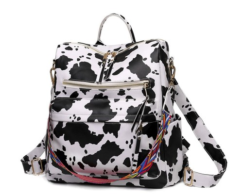 Cow print guitar strap backpack bag - orangeshine.com