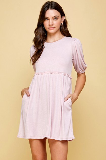 RUFFLED BABYDOLL DRESS - orangeshine.com