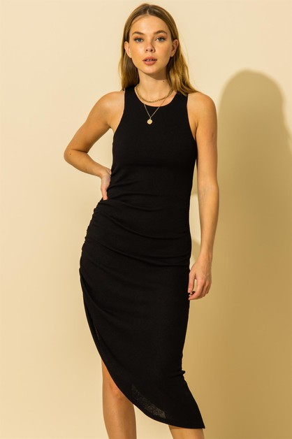 SLEEVELESS ASYMMETRICAL DRESS - orangeshine.com
