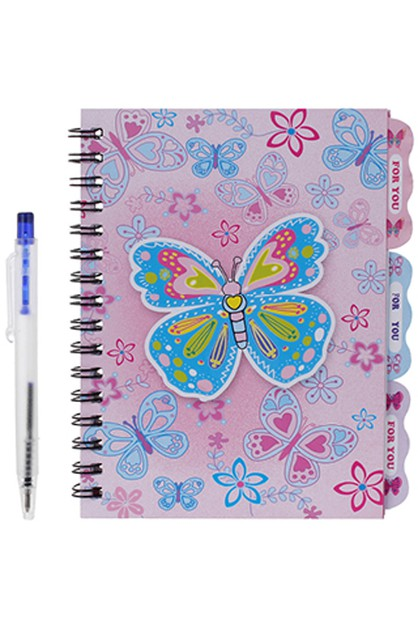 Butterfly Notebook and Pen Set - orangeshine.com