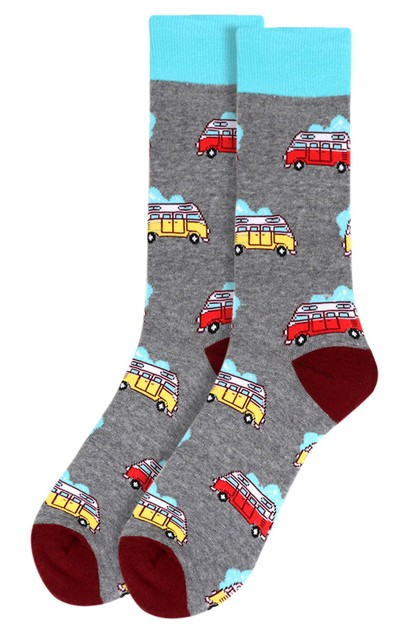 Mens Camping Car Novelty Socks - orangeshine.com