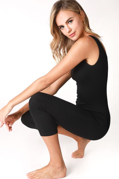 Reversible Ribbed Jumpsuit - orangeshine.com