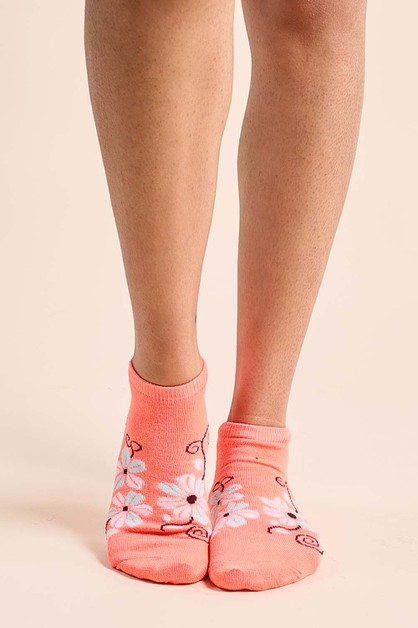 Lilac Ankle Socks - orangeshine.com