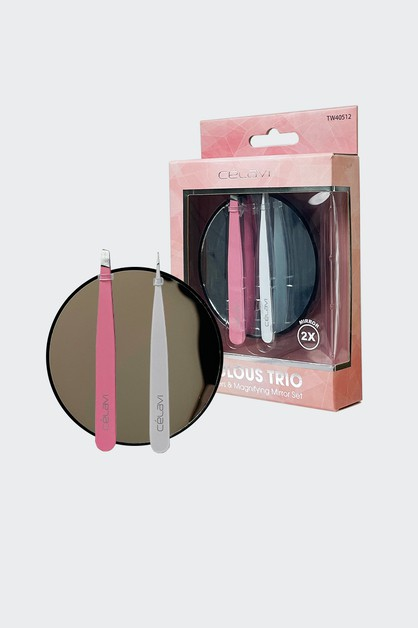 2 TWEEZERS AND 2X MAGNIFYING MIRROR - orangeshine.com