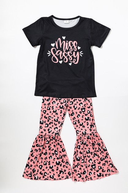 Miss sassy bell pants set - orangeshine.com