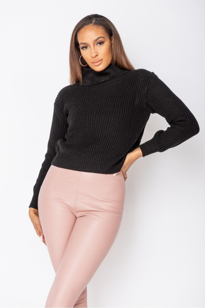 Roll Neck Ribbed Jumper - orangeshine.com