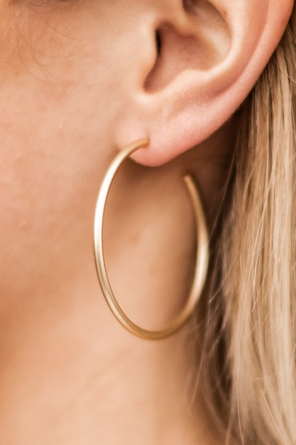 NEW Modern Matte Hoops - orangeshine.com