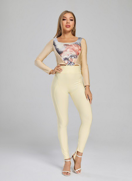 Lift Hips Step On Leggings - orangeshine.com
