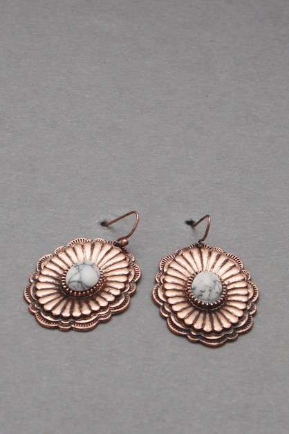 METAL DANGLE EARRING - orangeshine.com