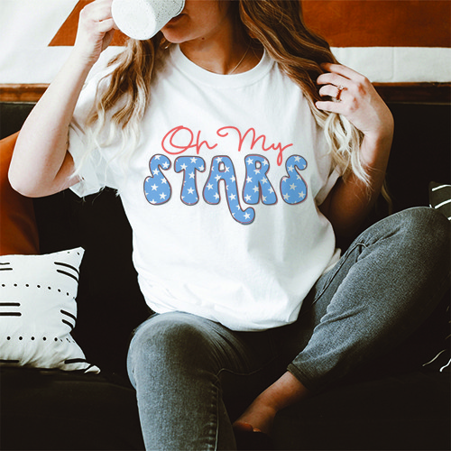 Oh My Stars Graphic T-Shirt - orangeshine.com