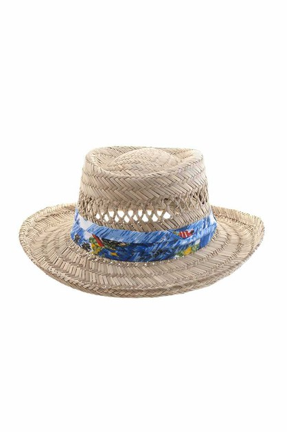 FASHION STRAW TROPICAL STRAPS SUNHAT - orangeshine.com
