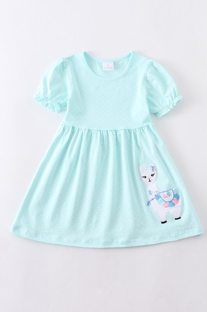 Llama applique dress - orangeshine.com