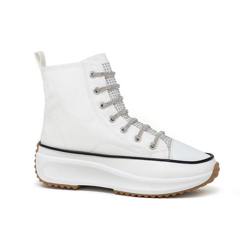 Rhinestone Hike High Top Sneakers - orangeshine.com