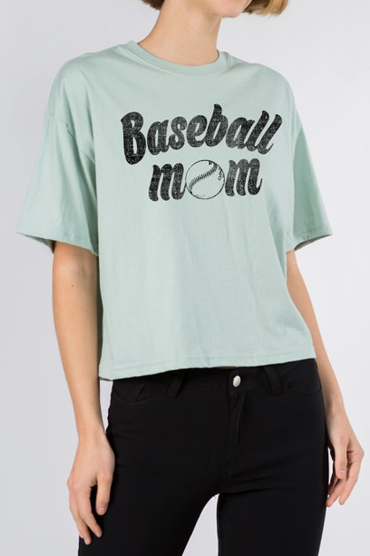 Baseball Mom Crop - orangeshine.com