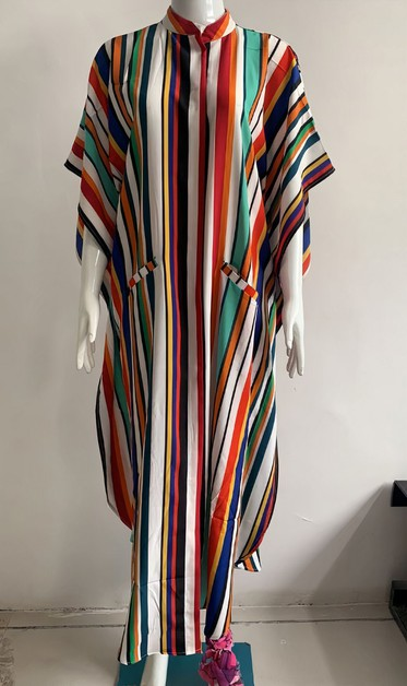 Wide Dress -Stripes - orangeshine.com