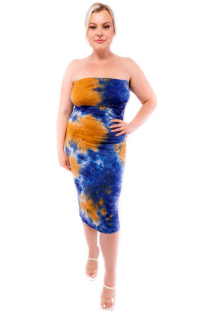 TIE DYE TUBE DRESS - orangeshine.com