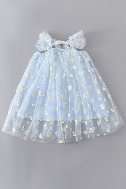 Blue sunflower tutu dress - orangeshine.com