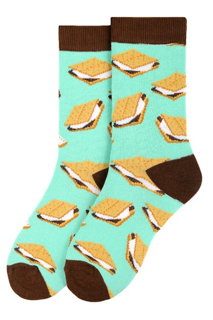 Womens Smores Novelty Socks - orangeshine.com