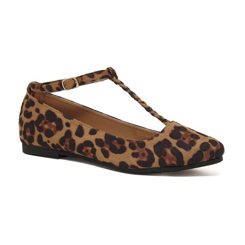 Twisted Band Ankle Strap Flats - orangeshine.com
