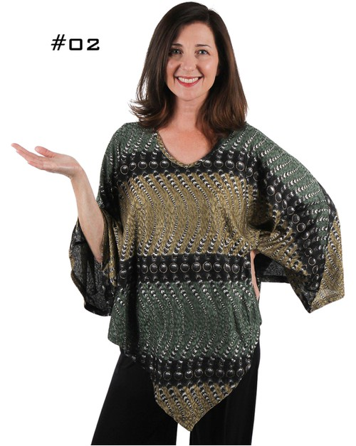 Slinky Weave Poncho with Arm Holes - orangeshine.com
