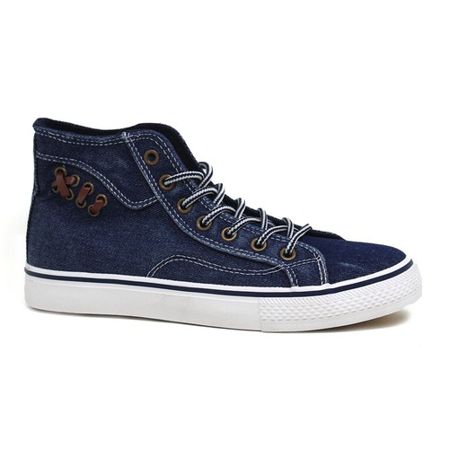 Round Toe Lace Up High top Sneakers - orangeshine.com