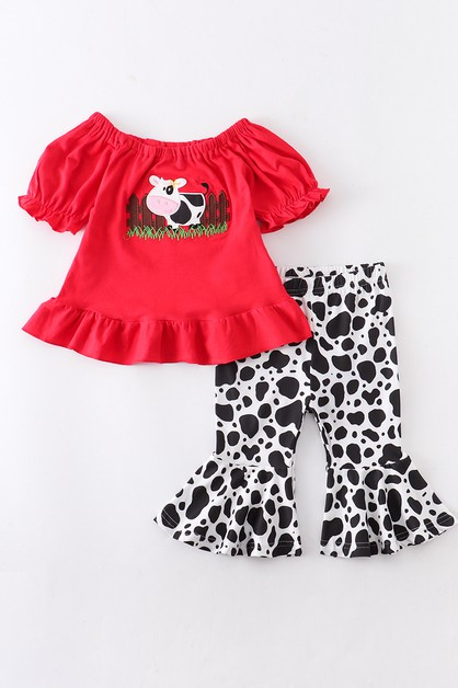 Cow applique set - orangeshine.com