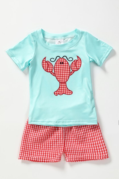 Lobsteer gingham shorts set - orangeshine.com
