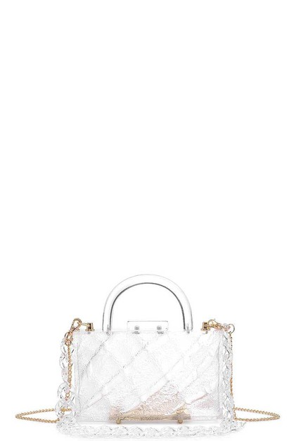 FASHION CLEAR DIANA EVENING BAG - orangeshine.com