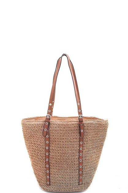 FASHION WOVEN STRAW TOTE BAG - orangeshine.com