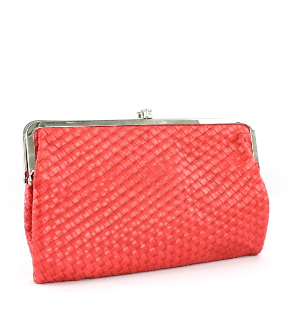 BASKET WEAVE SNAP CLUTCH - orangeshine.com