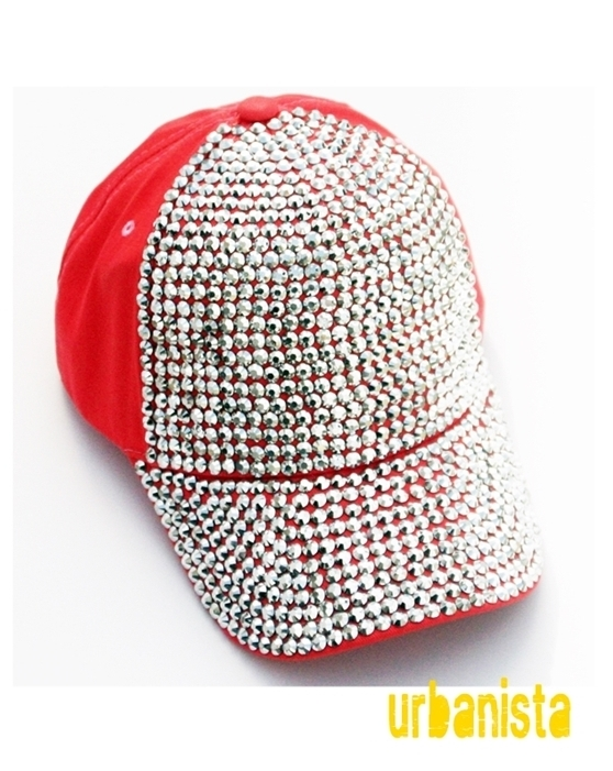 COLORFUL GLITTERING STUDS CAP - orangeshine.com